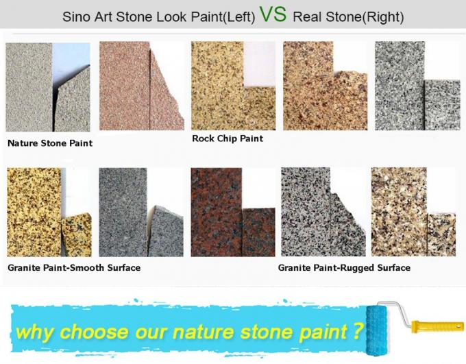 nonstripping and cost saving elastomeric roof stone texture coating paint 20kg package